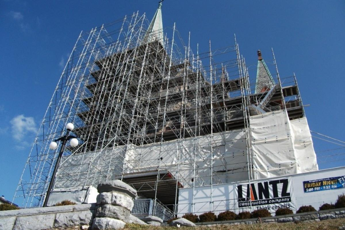 Extensive Construction Scaffolding