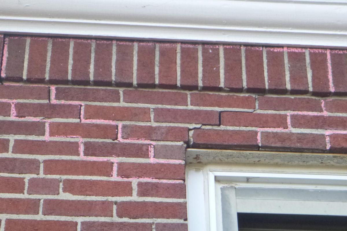 Cracking at corner window